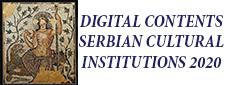 DIGITAL CONTENTS – SERBIAN CULTURAL INSTITUTIONS 2020